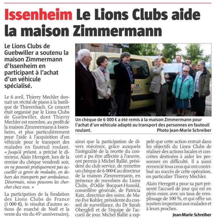 Article Alsace 24 mai 2013
